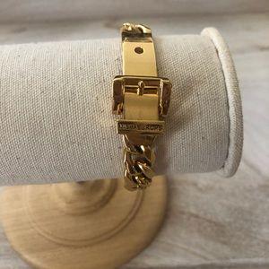 Like new- Michael Kors gold buckle bracelet!